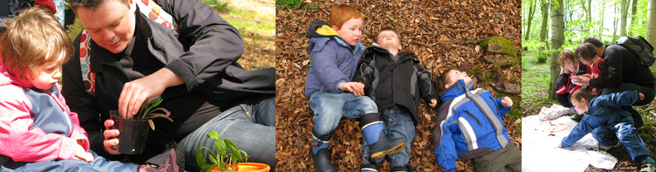 Mud Pies nature courses are for children aged 2-5, and their parent or other carer and take place in Aberdeen and Aberdeenshire